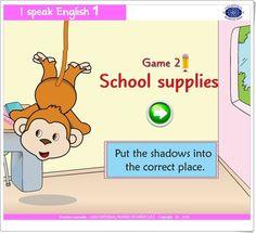I speak English 1 (School supplies) English Play, Editorial, School Supplies, Family Guy, Esl, Teaching Ideas, Easter, World, Teaching Resources