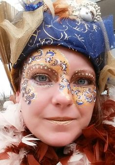 Inzending Schminkkunst fotowedstrijd Carnaval 2015 via Facebook. Paisley, Face And Body, Body Art, Steampunk, Make Up, Creative, Masquerades, Facebook, Costumes