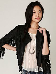fringe-y leather.