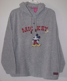 a6403bbd4 Wonderful World Of Disney Mickey Mouse Fleece 1/4 Zip Hoodie Large 12/14