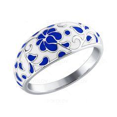 Sokolov Jewelry / Серебряное кольцо «Гжель»