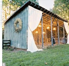 would love to have a small barn like this to gather with family and