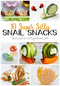 10 Sweet and Silly Snail Snacks - Awww! Super cute!