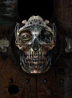 Mowrer Art Steampunk Frankenstein and more: Steampunk Skull