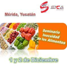 Te invitamos a asistir al Seminario de Inocuidad de los Alimentos en la Ciudad de Mérida, precio especial para Académicos y Alumnos http://www.sica-alimentos.net/#!seminario-de-inocuidad-merida-2015/c1a6n