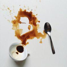 Когда пролитый кофе превращается в искусство