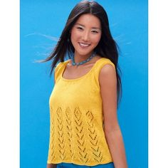 Sunny Days Tank free knitting pattern and more sleeveless top knitting patterns at http://intheloopknitting.com/sleeveless-tops-knitting-patterns/