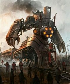 Giant Robot Train