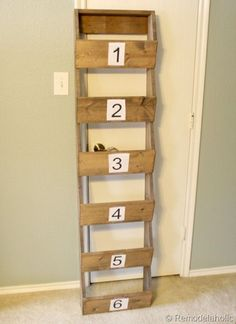 Need a great way to add storage to your home in a fun a funky way? Try building these Rustic Wall Storage Bins!