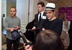 Rami Malek + brother Sami attend the hbo luxury lounge in honor of the 63rd Emmy…