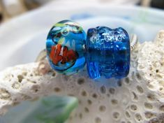 BHB Coral Reef Bubbles Fish and Seaweed big hole beads by idzyne