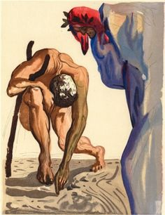 Salvador Dali Divine Comedy books or individual woodblocks. Authentic Salvador Dali Divine Comedy woodblocks from Inferno, Purgatory and Paradise. Dante Alighieri, Famous Artists, Great Artists, Salvador Dali Paintings, Spanish Artists, Magritte, Art Moderne, Gravure, Surreal Art