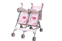 Poussette poupée - jumeaux Mini Buggy avec canopy et sac…