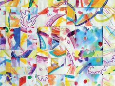 Abstract Painting with Mixed Media