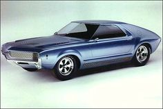 """1965 American Motors AMX-I (Richard Teague design) - This one had no engine, so they dubbed it """"The Pushmobile""""..."""