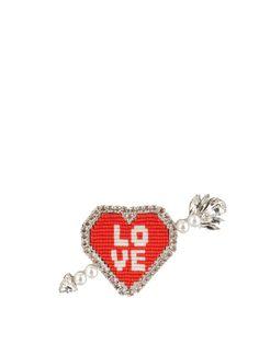 Emojibling Heart Love brooch | Shourouk | MATCHESFASHION.COM US