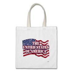 The United States of America with flag distressed Tote Bag   •   This design is available on t-shirts, hats, mugs, buttons, key chains and much more   •   Please check out our others designs at: www.zazzle.com/ZuzusFunHouse*