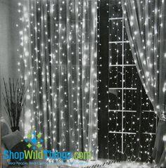 LED Light Curtain - 288 Crystal LED Lights, 12' (COOL WHITE) I love this