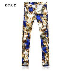 >> Click to Buy << New Jeans Men's Cotton Pattern Brand Designer Printed Jeans Mens Slim Fit Denim Pants #Affiliate