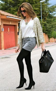 @roressclothes clothing ideas #women fashion Stylish Sequined Outfit with Denim Shorts