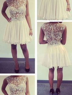 Crystal Beading Prom Dress,Tulle Prom Dress,Short Prom Dress,Homecoming