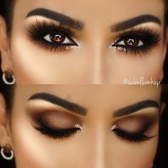 5 Ways To Make Brown Eyes Pop - Brown eyes are totally stunning. These 5 unique makeup tricks using purple and blue eyeliners will make your brown eyes stand out. makeup augen hochzeit ideas tips makeup Almond Eye Makeup, Natural Eye Makeup, Smoky Eye Makeup, Dark Eye Makeup, Sleek Makeup, Glam Makeup, Small Eyes Makeup, Formal Makeup, Bronze Makeup