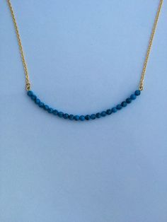 Gold Turquoise Bar Necklace by FrantasticSparkle on Etsy
