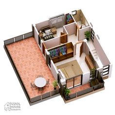 Havana is a two storey house with 3 bedrooms with usable floor area of 134 square meters. Note that the area of the terraces are not included, for purposes Two Storey House Plans, Duplex House Plans, House Layout Plans, House Layouts, 3 Storey House Design, Two Story House Design, Small House Design, House Construction Plan, Model House Plan