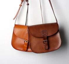 Vintage handmade leather bag by IOVintage on Etsy, $599.00
