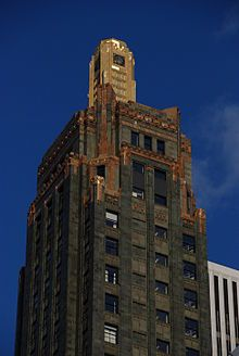 Carbide & Carbon Building is a Chicago landmark located at 230 N. Michigan Avenue. The building, which was built in 1929, is an example of Art Deco architecture designed by Daniel and Hubert Burnham,