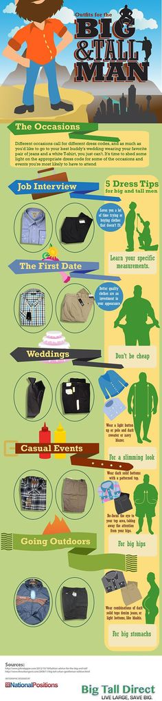 MEN'S TIPS: FASHION ADVICE FOR BIG AND TALL MEN #eyefitu #MensFashion
