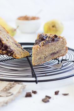 Pear Chocolate Almond Cake // Birnen-Schoko-Mandelkuchen