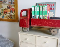 Baby boys room needs a wooden truck for book display