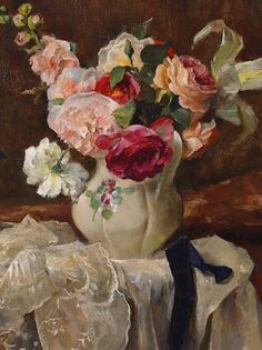 Andreas Patzelt  Still Life with Flowers, detail  1935