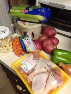 The ingredients of my first stew