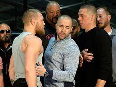 Outspoken Irishman Conor McGregor and American Nate Diaz