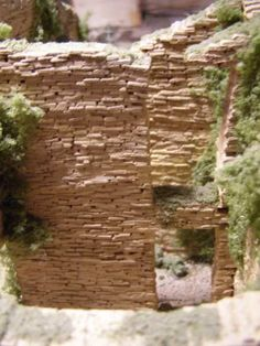 How to make miniature bricks for your diorama