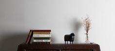 """corriedale"" interior objet hard maple & brass & hand painting"