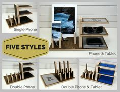 Double Phone & Tablet Charging Station and by PineconeHome on Etsy
