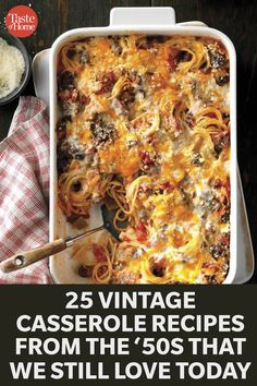 25 Vintage Casserole Recipes from the '50s That We Still Love Today Retro Recipes, Vintage Recipes, Easy Casserole Recipes, Casserole Dishes, Crockpot Recipes, Cooking Recipes, Special Recipes, Dinner Recipes, Easy Meals
