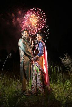 Indian wedding photography. Couple photo shoot ideas. Indian bride wearing bridal lehenga and jewelry. #IndianBridalHairstyle #IndianBridalMakeup Groom wearing sherwani and turban.  Jeshika   Vishal | Florida Indian Wedding by Ribha Events