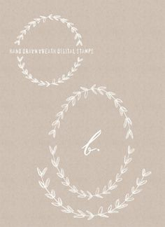Hand Drawn & Line Art Laurel Wreaths | Kitten Lane