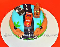 Coolest Disney Cars Cake... This website is the Pinterest of birthday cake ideas