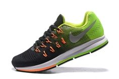 f31ece52ea4c Nike Air Zoom Pegasus 33 Men Running Shoes Green Black Silver 831352-006