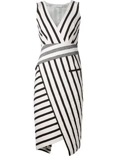 Shop Altuzarra striped asymmetric dress in  from the world's best independent boutiques at farfetch.com. Shop 300 boutiques at one address.