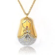 RARE Retired Swarovski Matryoshka Matrioshka Pendant Long Necklace 1082389 | eBay