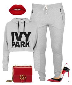 Untitled #1684 by siedahsimmons on Polyvore featuring polyvore fashion style Topshop Christian Louboutin Gucci Lime Crime clothing