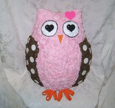 Sweetheart Owl Pinata  by BirchangelPinatas ~ Matches our invitations!
