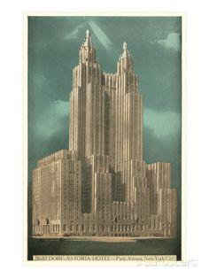 Waldorf-Astoria Hotel, New York City Poster at AllPosters.com