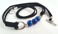 Back the Blue, Thin Blue Line, support law enforcement, bracelet, blue pearls…